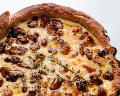 Ottolenghi's caramelised garlic tart