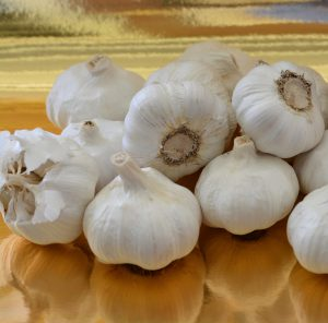 Patrice Newell's white garlic